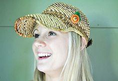 Vintage Wicker Adjustable Hat by... — http://www.wickerparadise.com