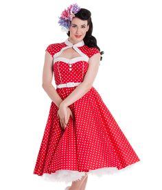 Hell Bunny 50s Alika Dress Red