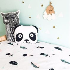 Tribal Feather Cot Duvet