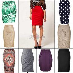 office style key pieces - pencil skirts =>http://www.giyimvemoda.com/bayan-ofis-kiyafetleri-ve-temel-parcalar.html