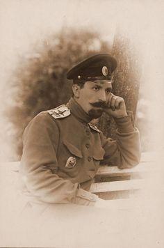 23. Военный летчик прапорщик Ляхов. 1915 Волынская губ., район г. Ровно