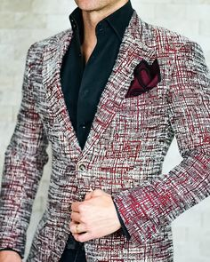 Best Casual Suits Outfits for Men Vinci& Diary is part of Mens outfits - Blazer Outfits Men, Mens Fashion Blazer, Mens Fashion Wear, Suit Fashion, Fashion Outfits, Casual Suit, Men Casual, Mens Burgundy Blazer, Mode Costume