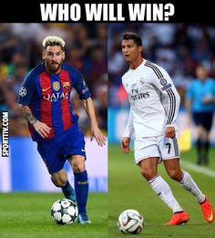 Messi vs Cristiano  #messi #cristiano #elclasico #soccermemes #barca #realmadrid