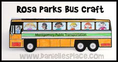 Rosa Parks Standup Bus Craft for Martin Luther King, Jr. Day from www.daniellesplace.com