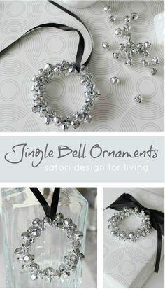 Pretty Jingle Bell DIY Christmas Tree Ornaments Tutorial | Satori Design for Living - Easy and Cheap DIY Christmas Tree Ornaments