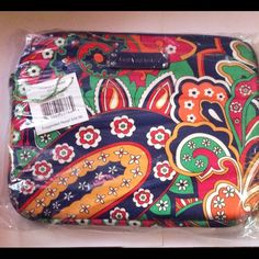 Vera Bradley  Tablet Sleeve Venetian Paisley Crafted in protective neoprene, this tablet sleeve is a perfect fit for most tablets, including the iPad.  It features an oversized design, plus a bright pop of color inside from our tech-friendly logo lining. Details  Sleek exterior features an oversized Signature print Logo lining Zip-top opening with logo zipper pull Logo plaque No Trades No Holds Vera Bradley Accessories Tablet Cases