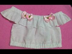 Como fazer blusa ciganinha para bebe - YouTube Baby Dress Design, Frock Design, Little Girl Pageant Dresses, Baby Girl Dresses, Party Wear Frocks, Baby Frocks Designs, Angel Dress, Sleeves Designs For Dresses, Fashion Sewing