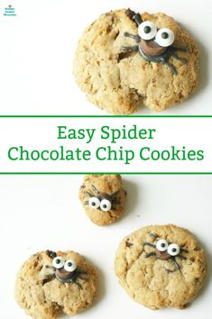 Bake a batch of silly Halloween spider cookies. With this easy recipe you can dress up home baked chocolate chip cookies or use your favourite store bought. Halloween Cookies, Halloween Treats, Homemade Halloween, Top Recipes, Snack Recipes, Dessert Recipes, Spider Cookies, Thanksgiving, Best Instant Pot Recipe