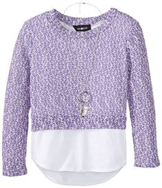 Amy Byer Big Girls' Sweater with Shirt Hem and Necklace, Purple, Large Amy Byer http://www.amazon.com/dp/B00MY68OF6/ref=cm_sw_r_pi_dp_5rhJub0VSG8JS