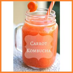 How to make bubbly fermented Carrot Kombucha! The surprisingly delicious flavor you will love! Kefir Recipes, Raw Food Recipes, Fun Drinks, Healthy Drinks, Beverages, Healthy Food, How To Store Carrots, Probiotic Drinks, Kombucha Flavors