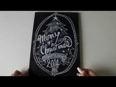 大人黒板、イラストとチョークレタリングの書き方(chalkart,chalklettering) - YouTube