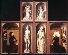 Rogier van der WEYDEN. The Last Judgment Polyptych (reverse side)  1446-52  Oil on wood  Musée de l'Hôtel Dieu, Beaune