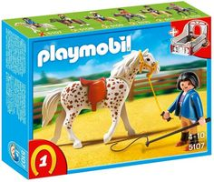Playmobil Knabstrupper Horse with Trainer and Stable on www.amightygirl.com