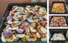 Vrstvený vepřový kastrol: Nejlepší papáničko na světě! Pasta Salad, Sausage, Treats, Ethnic Recipes, Red Peppers, Crab Pasta Salad, Sweet Like Candy, Goodies, Sausages