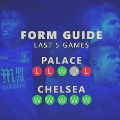 A look at the form of Chelsea 👌🏼and today's opponents Crystal Palace. #cfc #chelseafc#crystalpalace #premierleague #chelsealovers #chelsea #CFCFamily #football #followforfollow #like4like #shareforshare