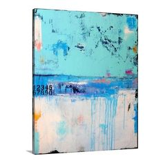 'Summer In Largo' by Erin Ashley Painting Print on Canvas ❤ liked on Polyvore featuring home, home decor, wall art, canvas wall art, canvas home decor and canvas painting