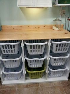 Check this website resource. Go to the webpage to learn more on diy laundry basket storage. Click the link for more. Laundry Basket Dresser, Laundry Room Tables, Laundry Basket Storage, Laundry Sorter, Laundry Room Shelves, Farmhouse Laundry Room, Laundry Room Organization, Laundry Room Design, Storage Organization