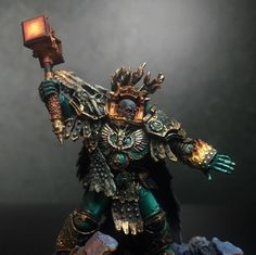Vulkan Drops the Hammer: Army Of One - Spikey Bits Warhammer Paint, Warhammer Fantasy, Warhammer 40000, Salamanders 40k, Salamanders Space Marines, Minis, 28mm Miniatures, Warhammer 40k Miniatures, Mini Paintings