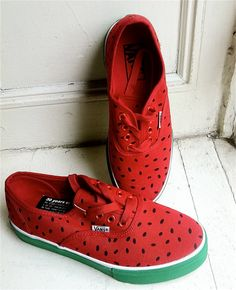 VANS watermelon pattern shoes :)