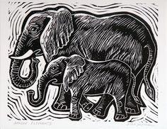 elephant block print