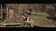 """This is the second time-lapse in my project """"Not Made in China. In this video I have documented the making of a wooden bowl and a spoon. The wood for both was felled in Stewards Wood where I shot the time-lapse. They were made using ancient techniques and tools with no electricity needed, only man power and time. The carver is Sharif Adams who is a thoroughly nice chap and great host during my trip to Exeter. Please check out his website, www.sharifadams.co.uk, for more of his ..."""