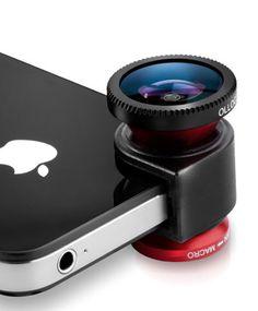 Il #MWC2013 di Barcellona è cominciato! Ecco un'interessante novità presentata da #Olliclip: il kit fotografico per #iPhone5, un piccolo modulo con integrati tre obiettivi: lente macro, wide e fish-eye.