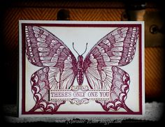SU's beautiful giant butterfly stamp in Razzleberry!