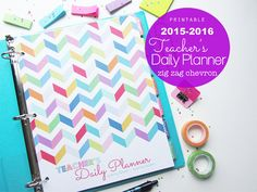 25% OFF Teacher's Daily Planner Printable  by CleanLifeandHome