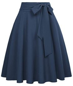 Belle Poque Women's High Waist A-Line Pockets Skirt Skater Flared Midi Skirt – Fashion-ladys Red Skirts, Summer Skirts, Cute Skirts, A Line Skirts, Long Black Skirts, Full Circle Skirts, Pencil Skirts, Midi Flare Skirt, Pleated Midi Skirt