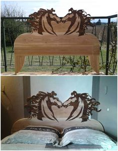 - Latest Pallet Ideas From The Biggest Pallet Community! Diy Pallet Sofa, Pallet Beds, Diy Pallet Furniture, Painted Headboard, Antique Headboard, Diy Projects For Your Bedroom, Diy Pallet Projects, Latest Pallet Ideas, Make Your Own Headboard