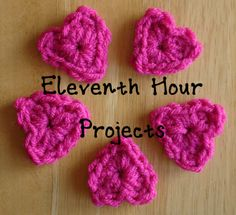 Eleventh Hour Projects (One Skein or less knitting and crochet) includes several crochet patterns.