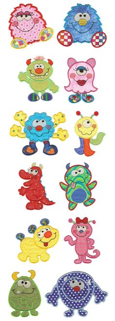 Embroidery | Free Machine Embroidery Designs | Monster Bash Applique
