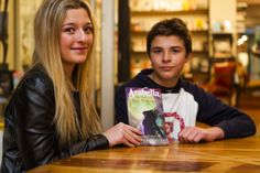 Cait and Nic at the launch of Arabella at Love Books in Melville