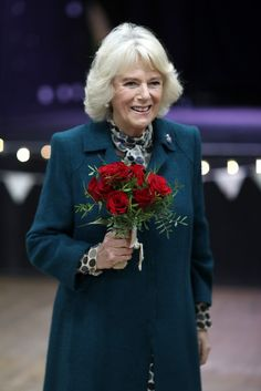 Camilla, Duchess Of Cornwall attends a Tea Party on her visit of Bristol on February 14, 2017 in Bristol, England.