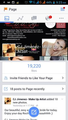 Awwww 19k plus likes on our page. Thank you so much po!!;)  CJ Jimenez Make Up Team: 1. Exceptional Portfolio 2. Consistent, More than A Thousand, Unsolicited and Real Time Positive Clients Feedback 3. Numerous Credentials:  Pond's Beauty Ambassador (1 of only 16 HMUAs in the Philippines) Bridal Make Up Artist of the Year- Top Brands Most Sought After Supplier / Top Booker for HMUA category- Weddings and  Debut 2013 Image Consultant - Association of Image Consultants International…