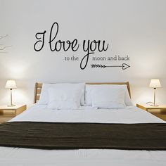 Wall Stickers And Quotes - Simple Wall Decor Ideas Decor, Room, Home, Simple Wall Decor, Bed, Wall Stickers, Vinyl Wall Decals, Bedroom, Vinyl Wall
