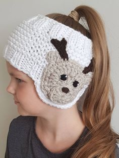 Knit Earwarmer Christmas Outfit Reindeer Hat Knit | Etsy