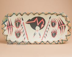 """Carved and painted by hand - Tarahumara Indian Bowl 20"""" -Bear, $79.95"""
