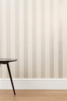 Roll - Stripe Wallpaper Buy Collection Glitter Wide Stripe Wallpaper from the Next UK online shop Striped Wallpaper Living Room, Striped Room, Striped Walls, Stripe Wallpaper, Hall Wallpaper, Office Wallpaper, Interior Wallpaper, Wallpaper Online, New Living Room