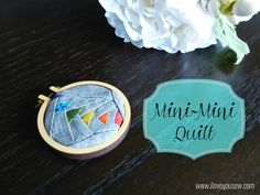 Make a Mini Quilt Hoop!