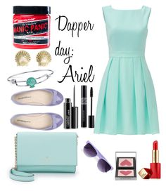 """Dapper day: Ariel (take 2)"" by chickenpox-oreo on Polyvore featuring Kate Spade, Manic Panic, Estée Lauder, ANNA BAIGUERA, Disney, Tiffany & Co., Burberry, Christian Dior, MAC Cosmetics and Boohoo"