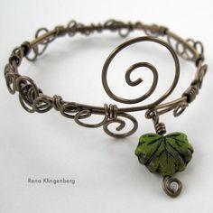 DIY Leaf Vine Filigree Wire Bracelet