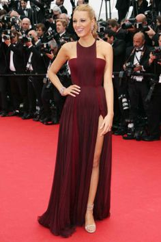 With her high braid and oxblood Gucci goddess gown, Blake Lively looks every bit the modern-day Athena.
