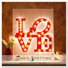 {make} Illuminated LOVE Canvas