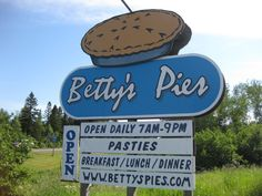 No trip along Minnesota's scenic North Shore is complete without stopping in Two Harbors to eat at Betty's Pies! It's been a tradition since 1956. Darn good food there, and the best pies I've ever tasted! They have many fresh-baked flavors to try.