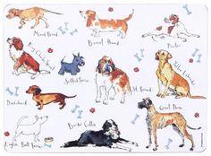 Madeleine Floyd perro y hueso - Manteles individuales (6 unidades): Amazon.es: Hogar