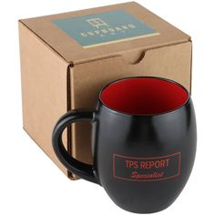 TPS Report Specialist   Large Black/Red Two Tone 16 Oz Barrel Shape Coffee  Mug With Gift Box By Cupboard Art: Kitchen U0026 Dining. Fun Idea For The Office  ...