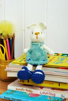 """Bramble Bunny ... Knitting pattern designed by Amanda Berry for """"Let's Get Crafting Knitting and Crochet"""" magazine, issue 57, and available as a free download."""