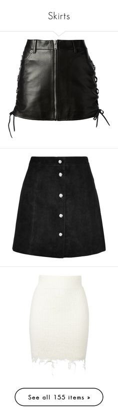 """""""Skirts"""" by paliahna ❤ liked on Polyvore featuring skirts, mini skirts, bottoms, saias, leather, yves saint laurent skirt, short leather skirt, leather miniskirt, high waisted leather skirt and high waisted mini skirt"""