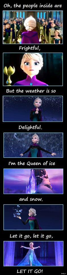 "It's an Elsa version of ""Let It Snow!""  Disney's Frozen was a great movie.  And this is cute.  :)"